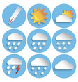 weather icon set paper style vector image vector image
