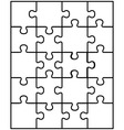 white puzzle 8 vector image vector image