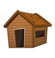 wooden house cartoon design isolated on white vector image vector image