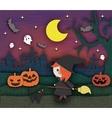 halloween cute card vector image