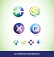 Colored alphabet letter set vector image
