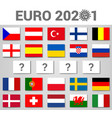 2020 euro football cup postponed concept vector image vector image