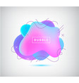 3d gradient spot bubble with wavy lines vector image vector image