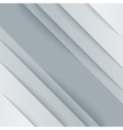 Abstract gray and white paper triangle shapes vector image