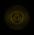 alchemy gold geometry sign on black background vector image vector image