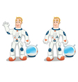 Astronaut in two poses vector image vector image
