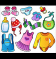 baby clothes collection vector image
