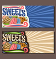 banners for sweets vector image vector image
