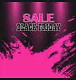 black friday sale colorful background vector image vector image