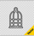 black line cage for birds icon isolated on vector image vector image