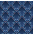 Blue Vintage Seamless Wallpaper vector image