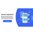 business app technology phone icon web design vector image