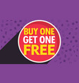buy one get one free discount voucher design vector image vector image