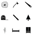 carpenter icon set vector image