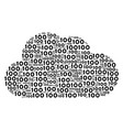 cloud composition of 100 texts vector image