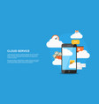 cloud service concept vector image vector image
