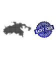 composition of halftone dotted map of saint john vector image vector image