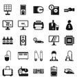 computer things icons set simple style vector image