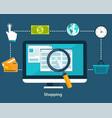 concepts online payment methods vector image vector image