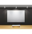 dark gallery interior vector image vector image