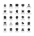 data science glyph icons set vector image vector image