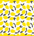 doodle yellow lemons with leaf seamless vector image