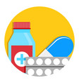 drug icon vector image