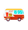 fast food delivery van icon vector image vector image