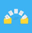 files transfer copy files data exchange backup vector image vector image