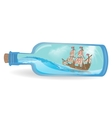 Flat design ship in a bottle vector image vector image
