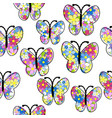 floral pattern butterfly seamless pattern vector image vector image