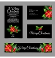 Four business card with red flowers vector image vector image