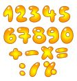 golden numbers vector image vector image