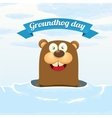 Groundhog day greeting card vector image