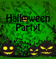 halloween party scary template vector image vector image