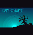 halloween with tree and pumpkin background vector image vector image
