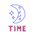hand draw moon icon in doodle style for your vector image vector image