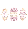 Hand-sketched typographic elements for autumn vector image
