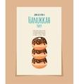 Hanukkah doughnut jewish holiday food vector image vector image