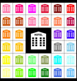 hotel sign felt-pen 33 colorful icons at vector image vector image