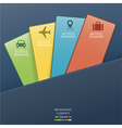 Infographic card vector image