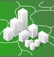 isometric map abstract city houses vector image