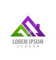 logo concept design geometric roinitial letter vector image