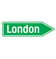 london city sign vector image