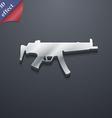 machine gun icon symbol 3D style Trendy modern vector image vector image