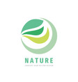 nature - concept business logo template vector image vector image