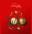 new year 2020 german card gold holiday ornament vector image vector image