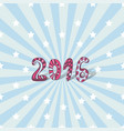 new year background 2016 cute lettering card vector image vector image