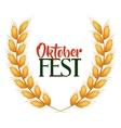 oktober fest invitation poster vector image
