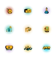 Petroleum icons set pop-art style vector image vector image